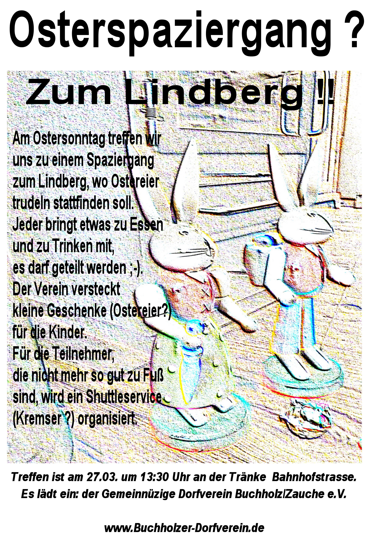Flyer zum Osterspaziergang am 27.03.2016 Treffpunkt 13:30Uhr Tränke
