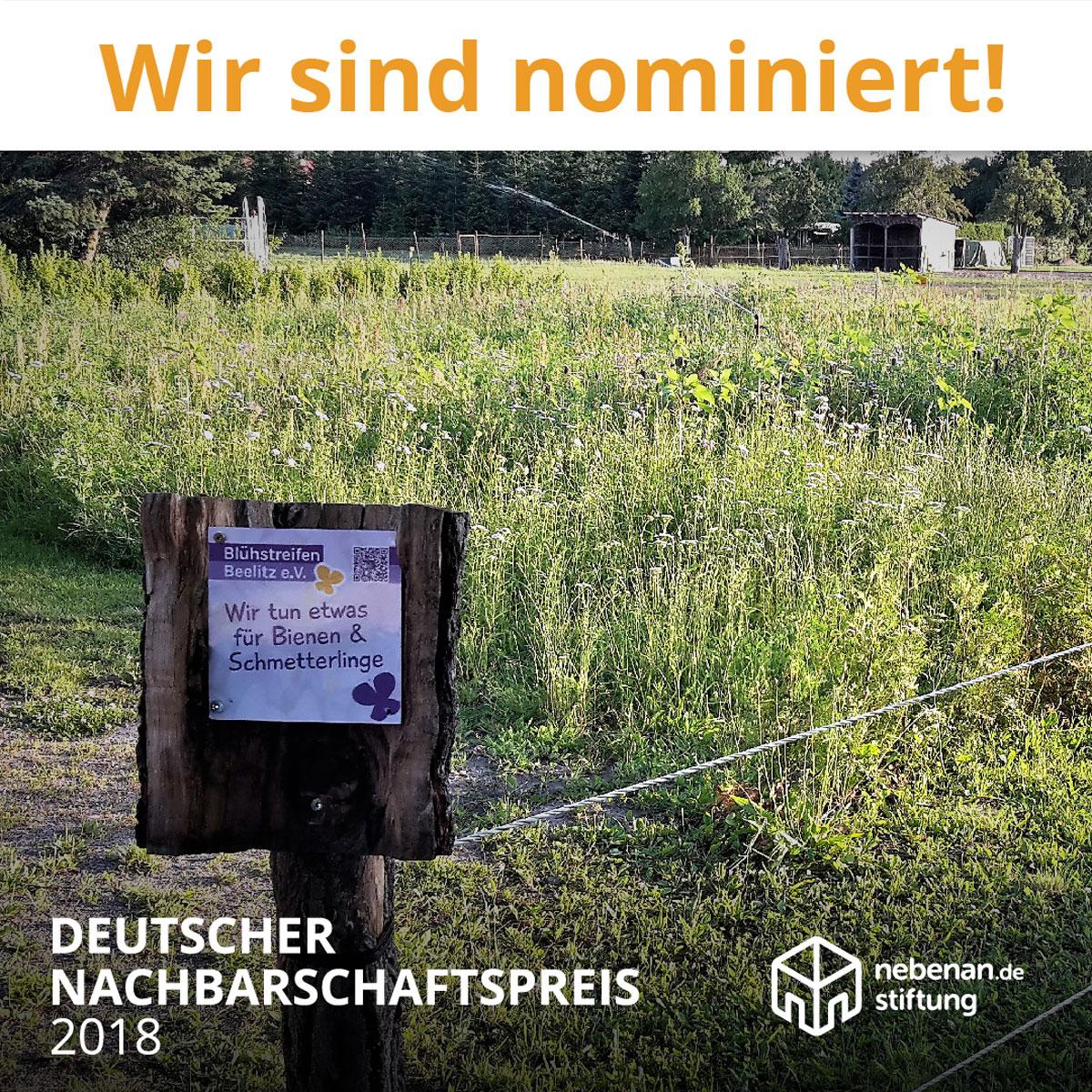 Wir sind nominiert Gemeinsam Artenvielfalt erhalten