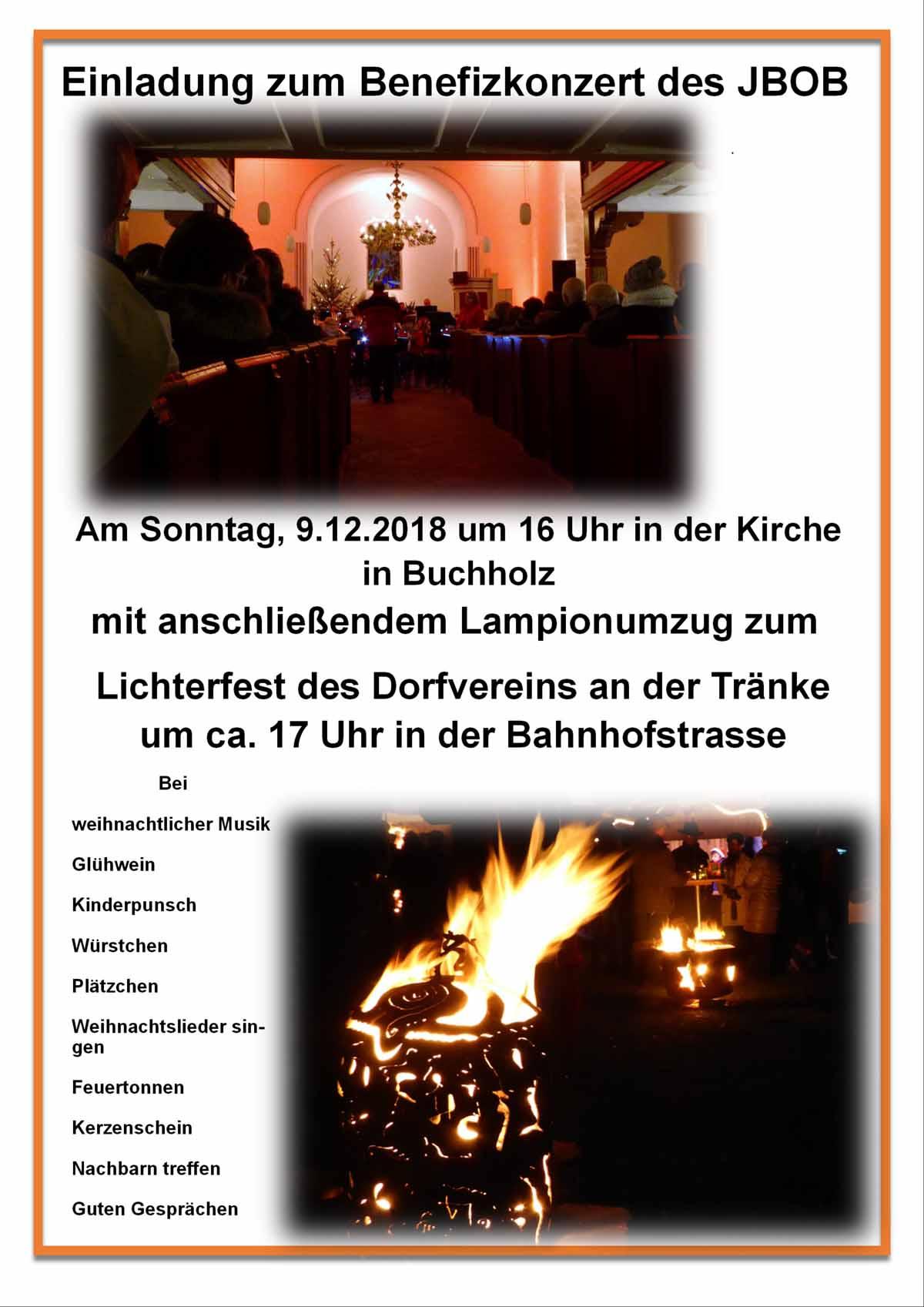 Lichterfest mit Benefizkonzert 2018