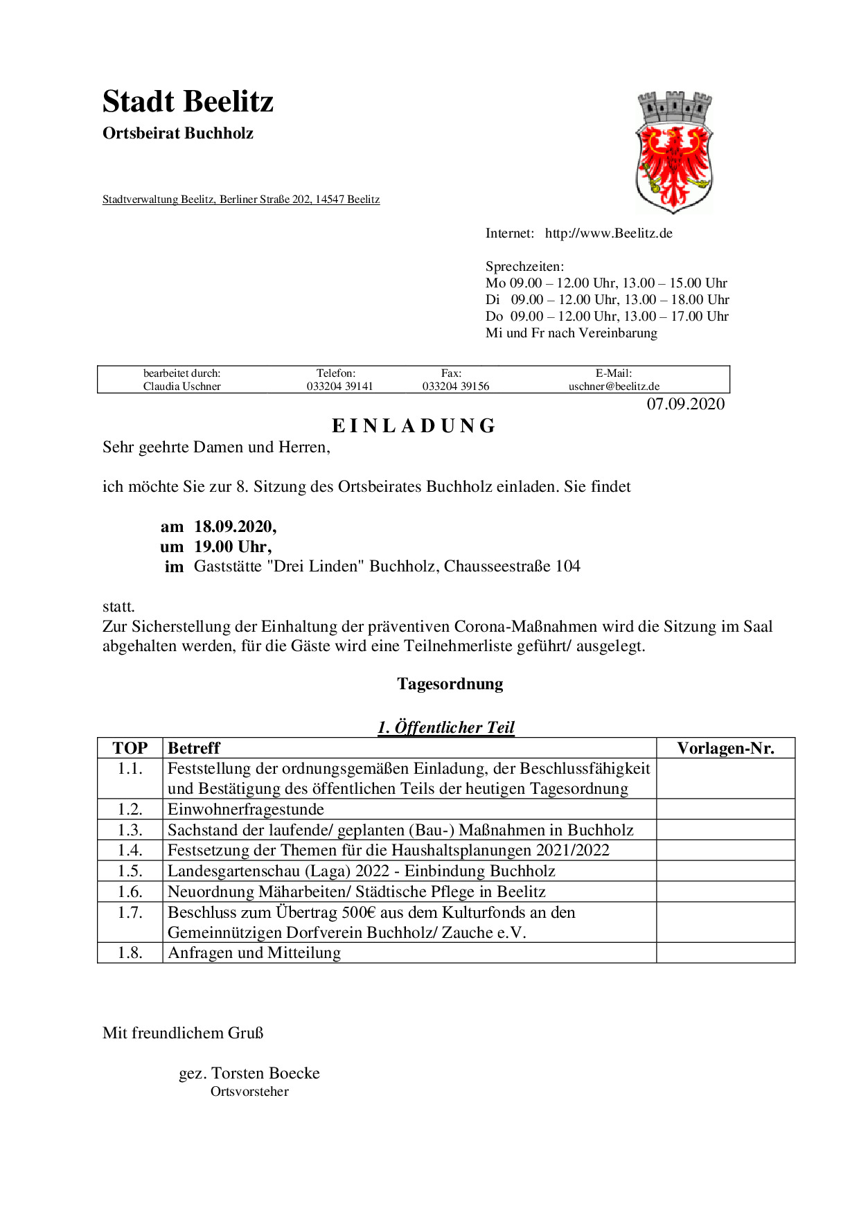 Einladung OB Sitzung 18_9_2020